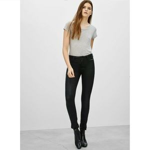 Aritzia The Castings Coated Black Wash Jeans 26